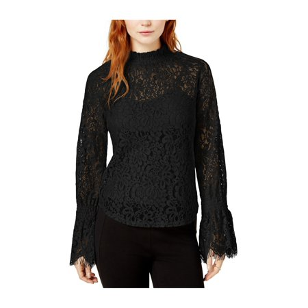 749d7c9de6 bar III Womens Lace Baby Doll Blouse deepblack 2XL - image 1 of 1 ...
