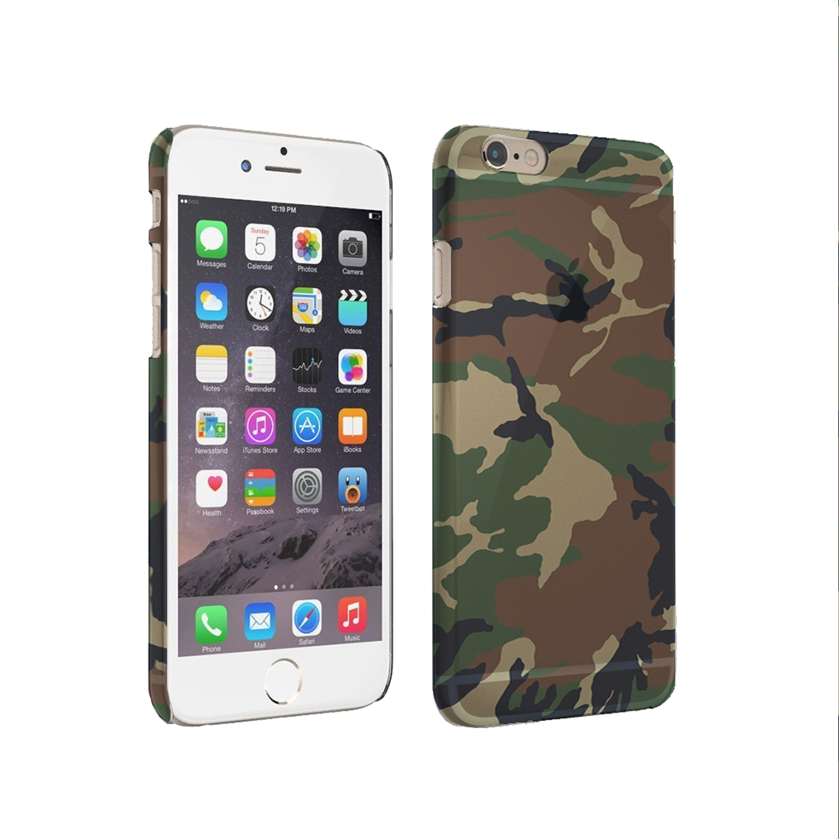 KuzmarK iPhone 6 Clear Cover Case - Camouflage
