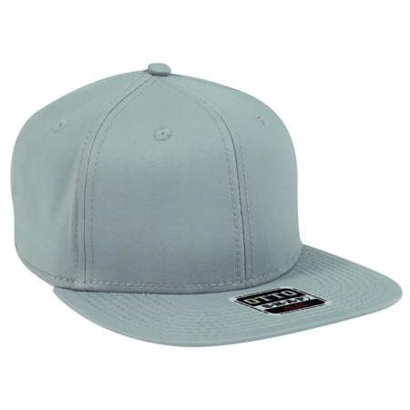 Pro Line Gray Floor Brush (OTTO ULTRA FINE BRUSHED STRETCHABLE SUPERIOR COTTON TWILL SQUARE FLAT VISOR 6 PANEL PRO SNAPBACK-014 - Gray )