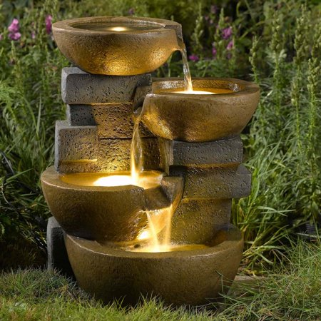 Jeco pots water outdoor fountain with led light walmart jeco pots water outdoor fountain with led light aloadofball Gallery