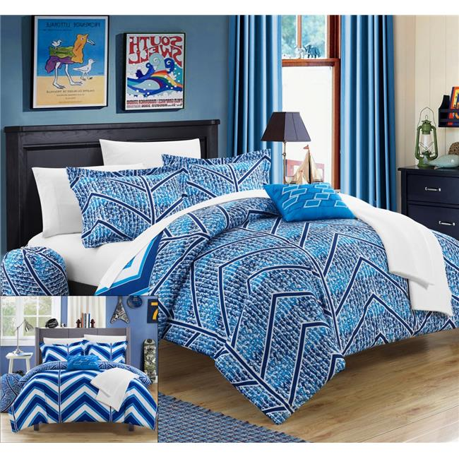 Chic Home CS4100-US Clarendon Chevron & Geometric Printed...