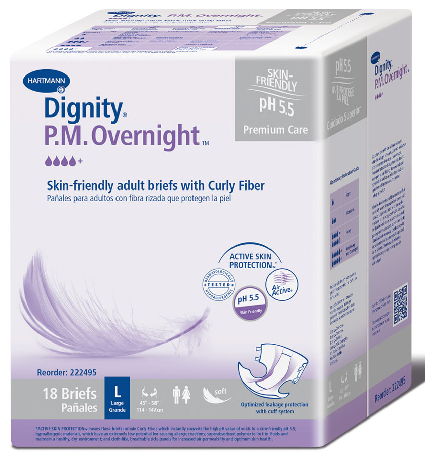 "Dignity PM Overnight Brief X-Large 59"" - 65"", Pack(age) of 20"