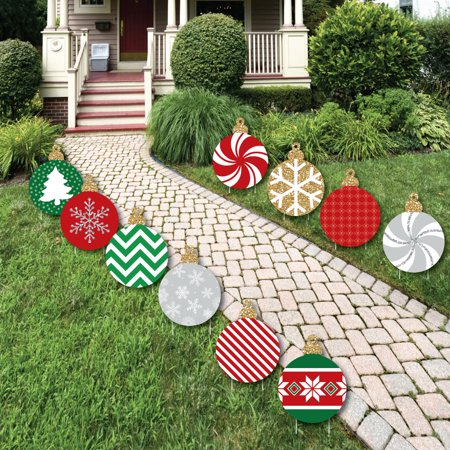 Lawn Yard Art Decoration - Ornaments Lawn Decorations - Outdoor Holiday and Christmas Yard Decorations - 10 Piece