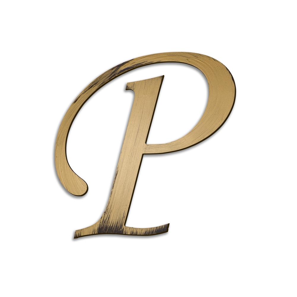 Individual Script Letters Wall Decor, Letter P