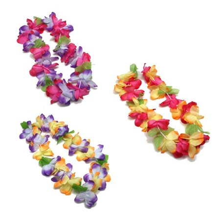 Mahalo Floral Leis : package of 12, Made of polyester By Fun - Floral Leis