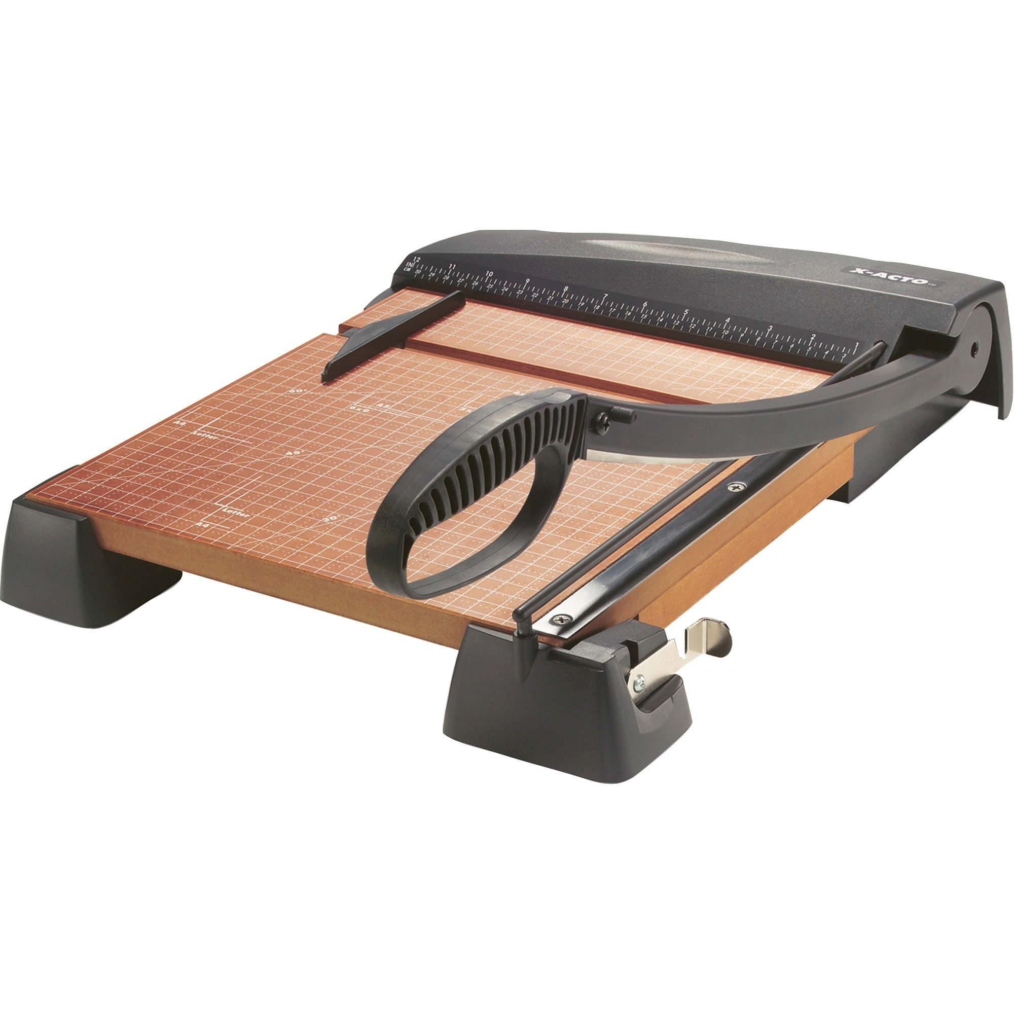 "X-Acto Heavy-Duty Guillotine Trimmer, 12"" Square, Wood Base"