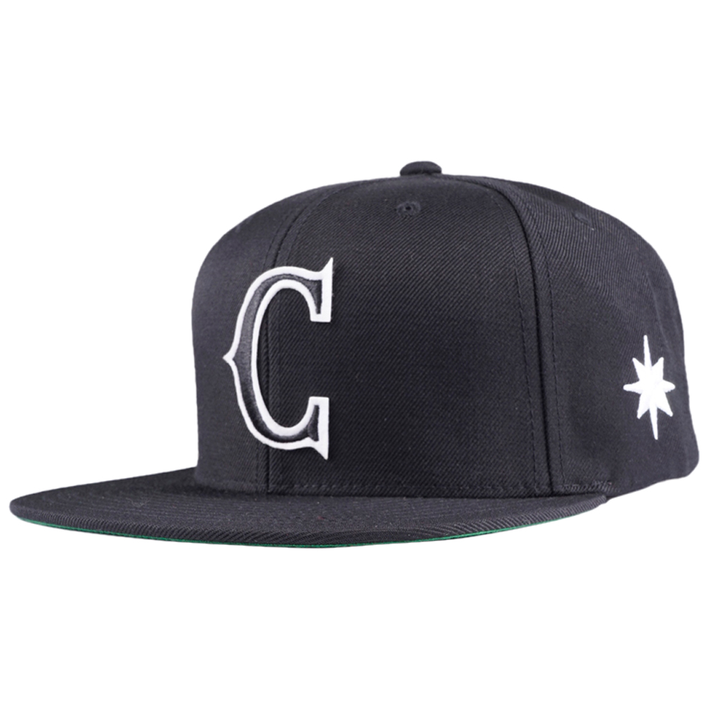 Caviar Cartel Snapback Black Hat Osserta with White Star on Side