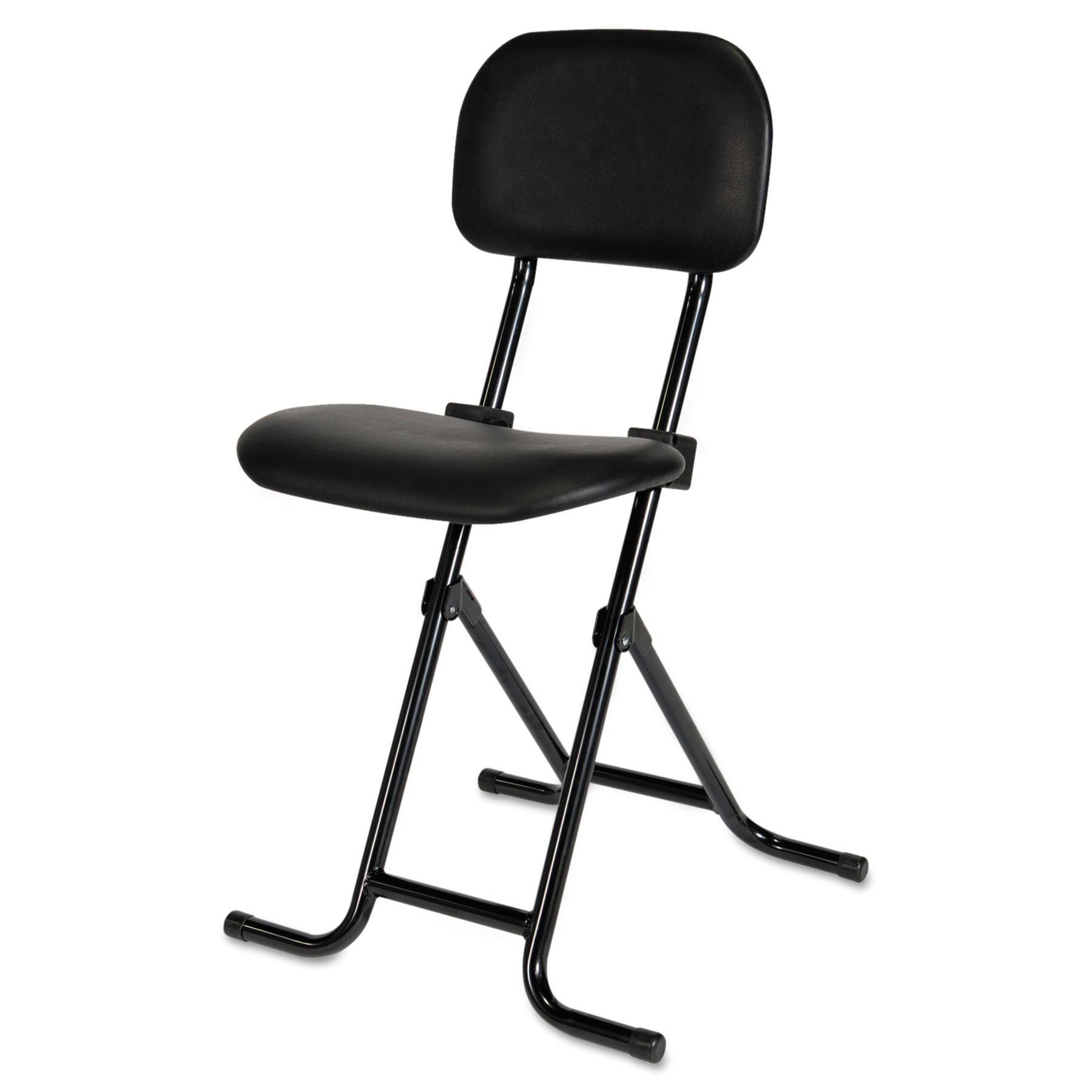 Padded seat can Support 198 pounds Adjustable Folding Piano Stool Black