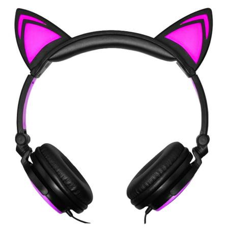 Led Pink Cat Ear Headphones At Walmart For