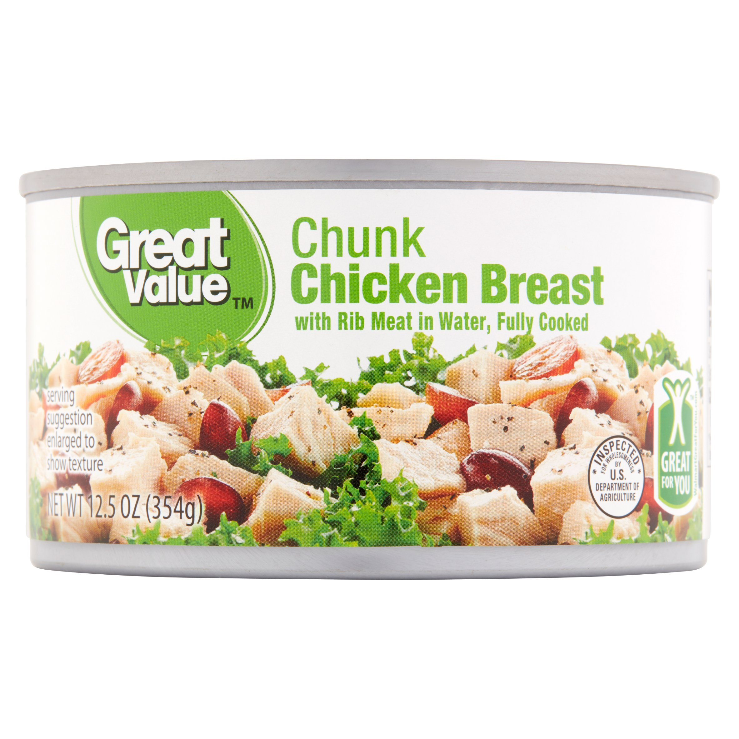 Great Value Premium Fully Cooked Chunk Chicken, 12.5 oz