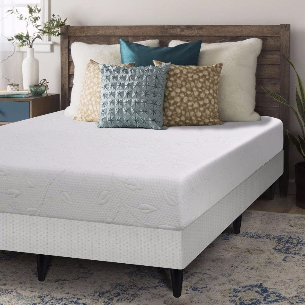 Crown Comfort  Air Flow 8-inch King-size Bi-fold Box Spring and Memory Foam