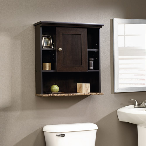 Sauder Peppercorn Wall Cabinet, Cinnamon Cherry