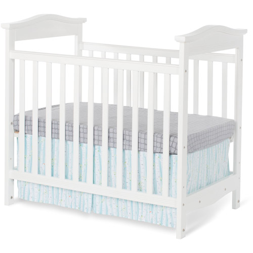 Foundations Princeton Clear Choice Mini Crib, White