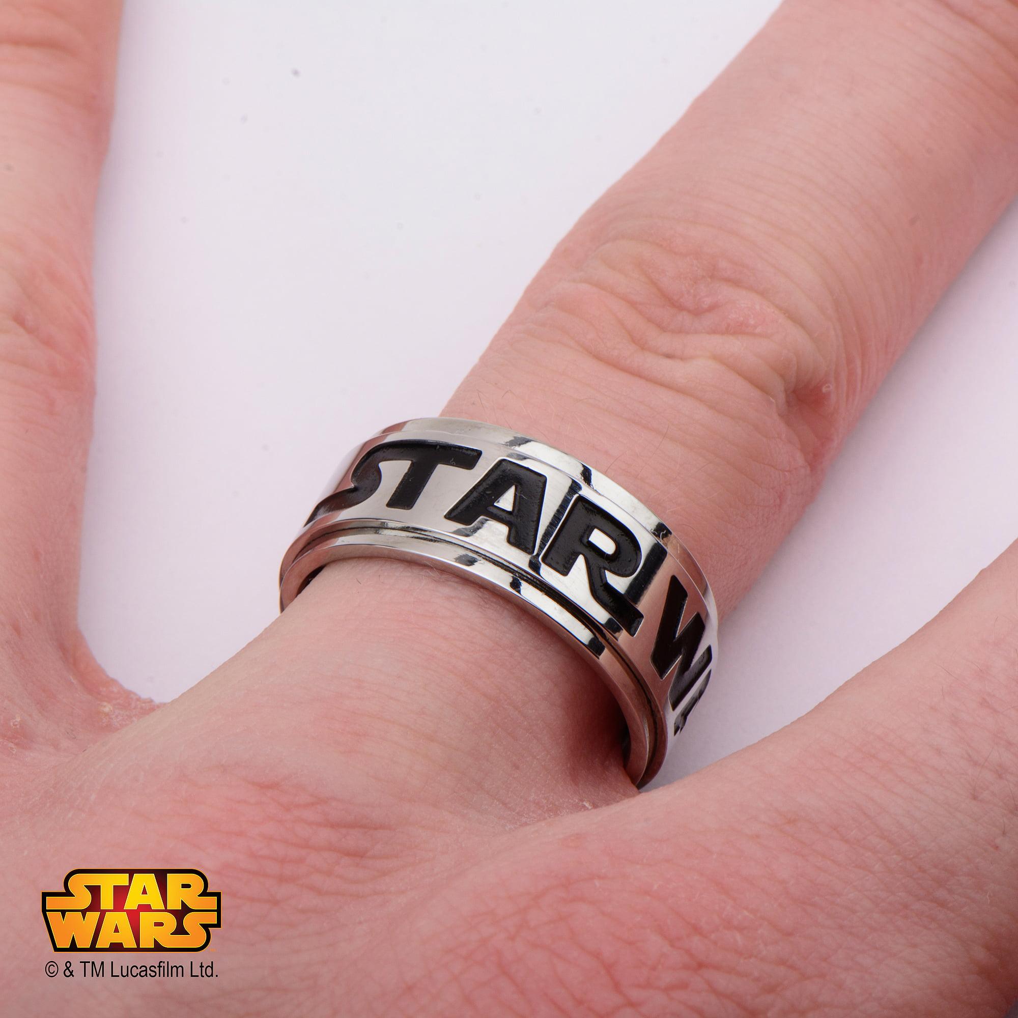 Disney Stainless Steel Star Wars Logo Spinner Ring - Walmart.com