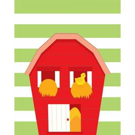 Barn Stripe Rolled Canvas Art - Tamara Robinson (11 x 14)