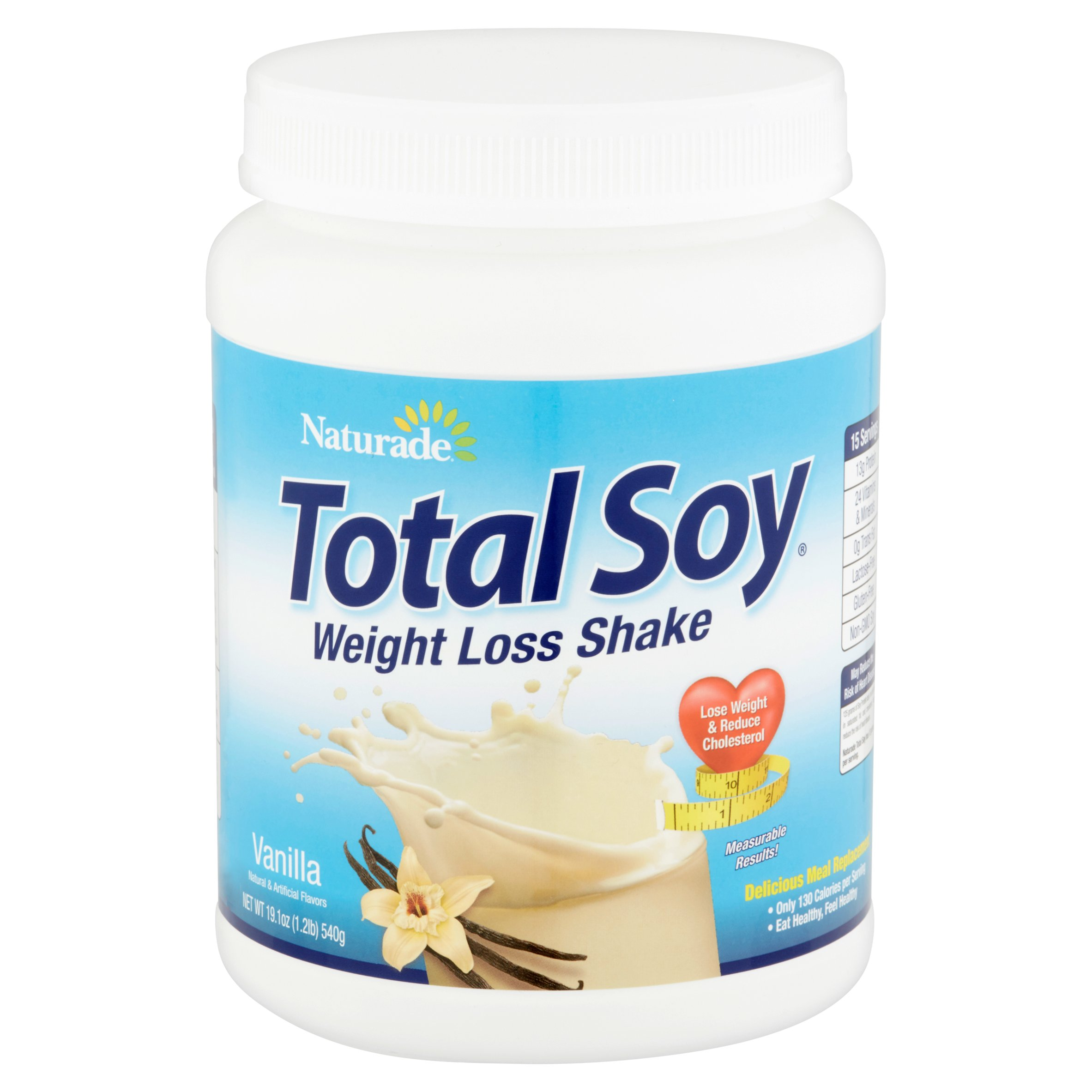 Naturade Total Soy Vanilla Weight Loss Shake, 19.1 oz