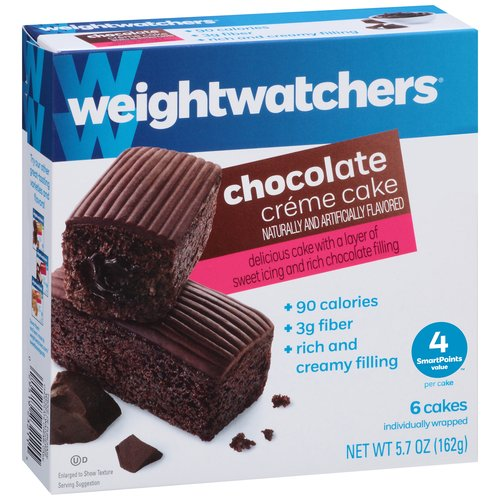 Weight Watchers Chocolate Creme Cake, .95 oz, 6 count