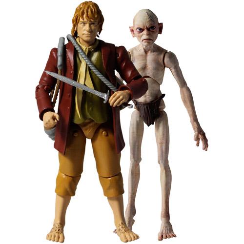 "The Hobbit 3.75"" Adventure Figure 2 Pack Bilbo Baggins & Gollum"