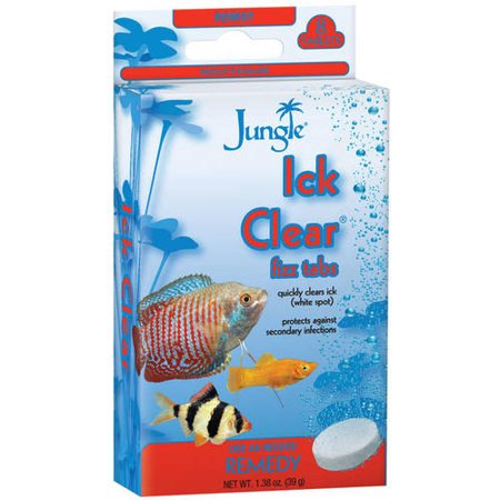 Clearwave Water Conditioner ((2 Pack) Jungle Ick Clear Fizz Tablets for Cleaner Aquariums, 8-Count)