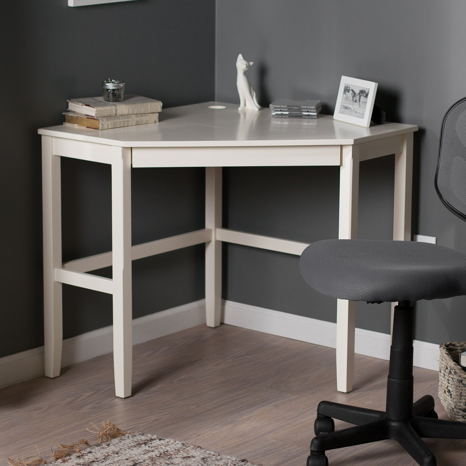 corner laptop writing desk with optional hutch vanilla Corner Laptop Writing Desk with Optional Hutch   Vanilla   Walmart.com corner laptop writing desk with optional hutch vanilla