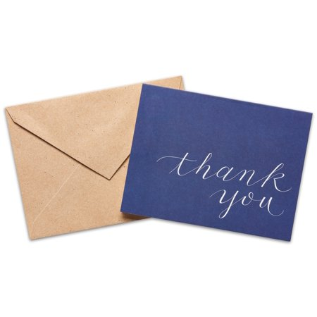 American Greetings Navy Thank You Cards and Envelopes, 50ct - Unicorn Thank You Cards