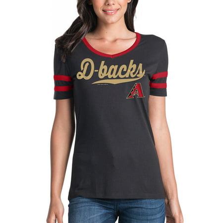 Women's New Era Black Arizona Diamondbacks Jersey V-Neck -