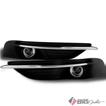 2011-2014 Chrysler 200 Fog Lights w/ Switch, Harness, Wiring Completed Set Pair Left+Right 2012