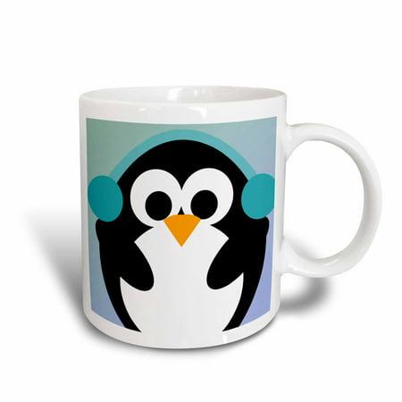 3dRose Christmas Penguin- Cute Whimsical Art, Ceramic Mug, 11-ounce - Cute Christmas Mugs