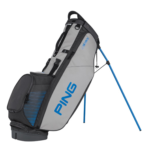New Ping 4-Series Golf Stand Bag (Charcoal / Gray / Blue)