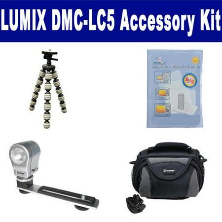 Lc5 Camera (Panasonic Lumix DMC-LC5 Digital Camera Accessory Kit includes: SDC-26 Case, ZELCKSG Care & Cleaning, ZE-VLK18 On-Camera Lighting, GP-22 Tripod)