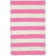 Liora Manne Sorrento Area Rugby Stripe Pink Indoor/Outdoor Area Rug