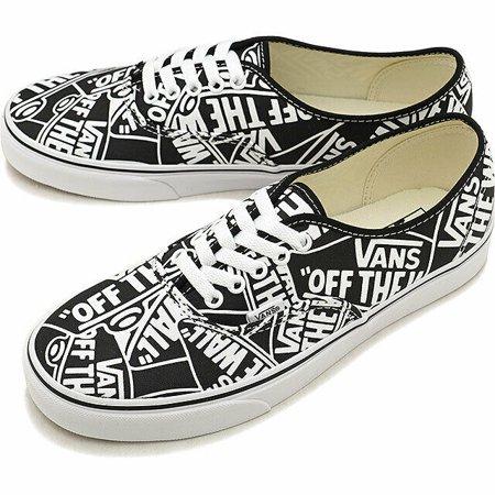 Vans Authentic OTW Repeat Black/True White Men's Classic Skate Shoes Size 10 (X2 Skate Shoes)