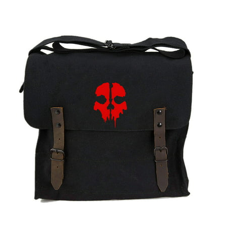 Call of Duty Ghost Skull Logo Army Heavyweight Canvas Medic Shoulder