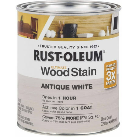 Rust-Oleum Ultimate Wood Stain Quart, Antique White ()