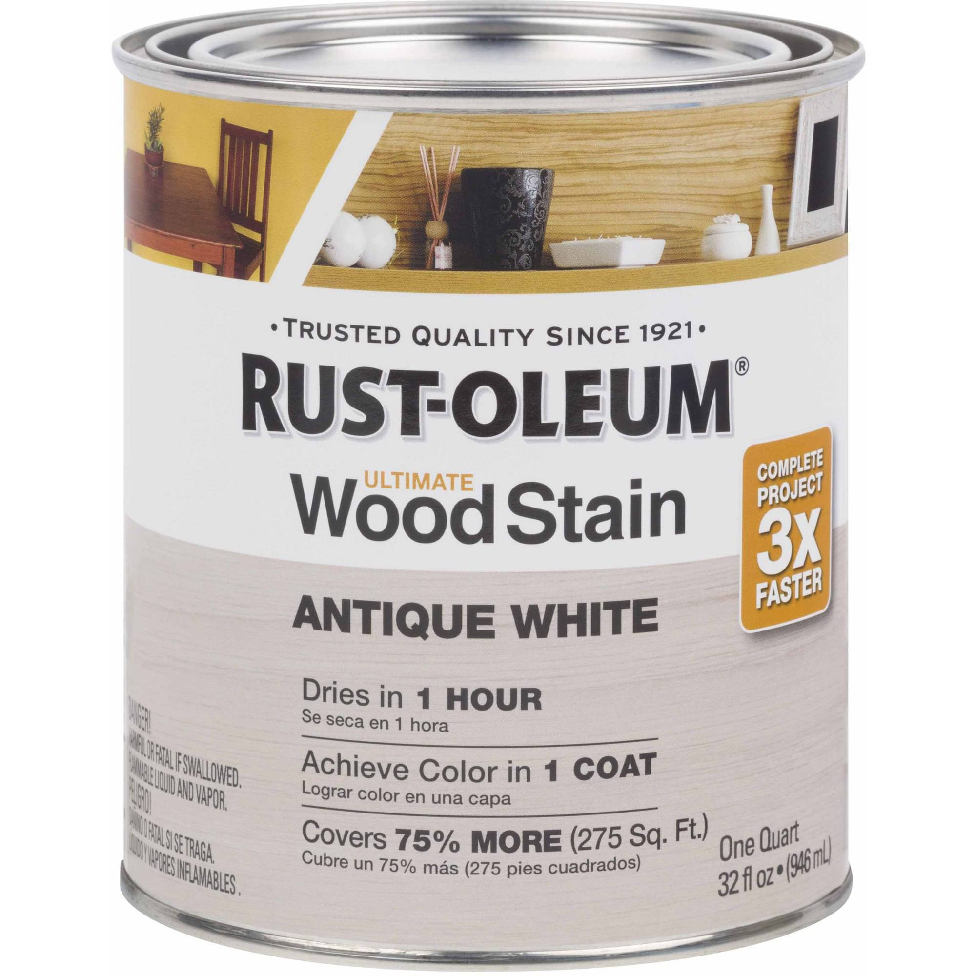 Rust-Oleum Ultimate Wood Stain Quart, Antique White
