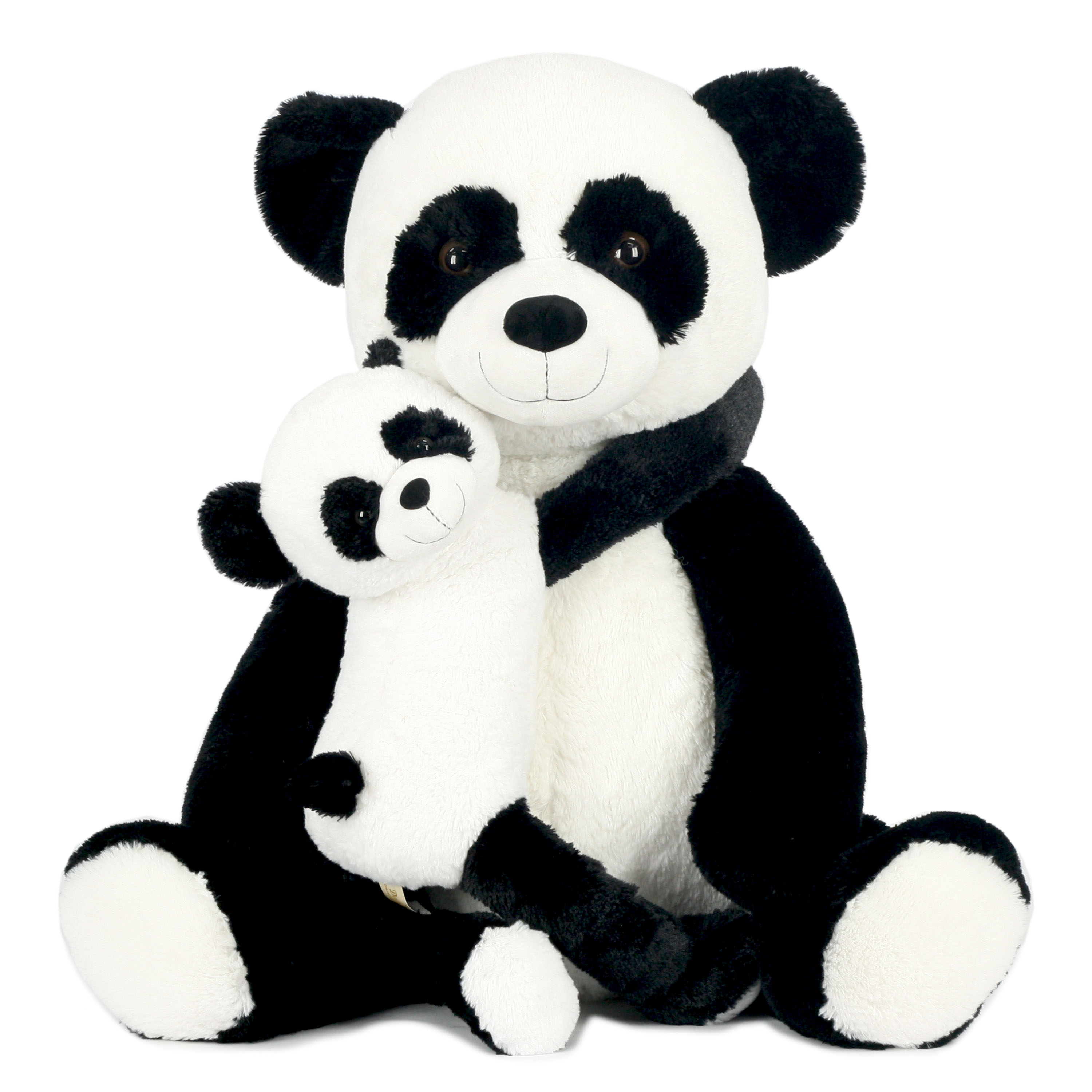 Way To Celebrate 28 Inch Momma and Baby Valentines Plush Toy – Panda
