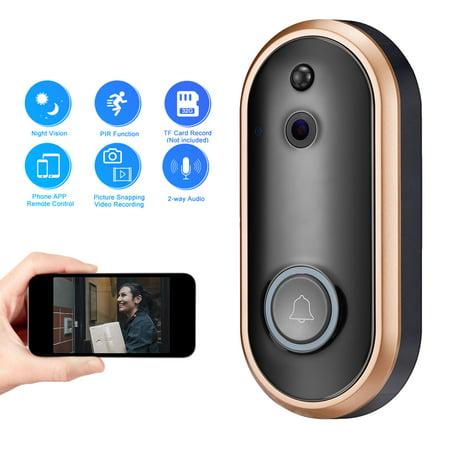 WiFi Smart Video Doorbell, EEEKit Wireless Door Bell 1080P HD Wireless Home Security Doorbell, Smart PIR Motion Detection