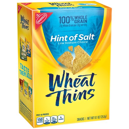 Nabisco Wheat Thins Hint of Salt Crackers, 9.1 oz
