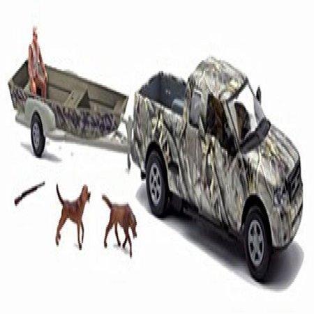 Wild Hunting Playset Camo Jon Boat on Trailer