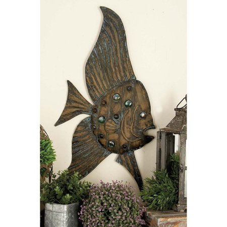 Decmode Metal Fish, Set of 3, (Metal Bronze)
