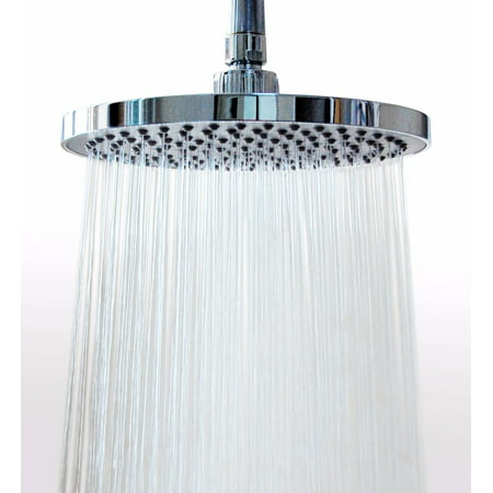 8 Inches (157 Jets) Rainfall Shower Head with Showerhead Swivel Metal Ball Connector Polished Chrome Brass 8 Jets Showerhead