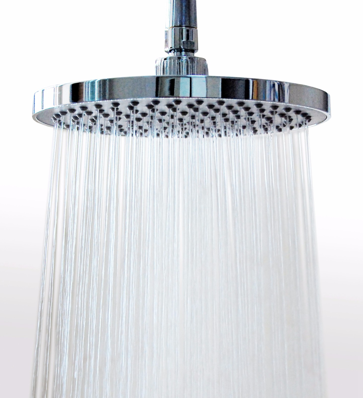 8 Inches (157 Jets) Rainfall Shower Head with Showerhead Swivel Metal Ball Connector Polished Chrome