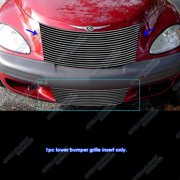 APS Compatible with 2000-2005 Chrysler PT Cruiser Lower Bumper Aluminum Chrome Horizontal Billet Grille Insert R86573A