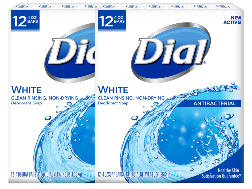 (Pack of 2) Dial Antibacterial Deodorant Bar Soap, White ...