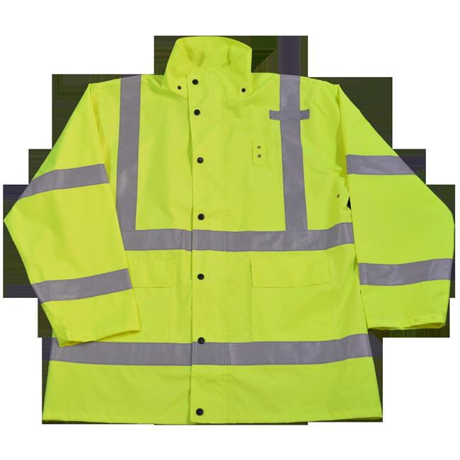 2-3 Pockets Zipper Closure Two Tone Lime Mesh W//Orange Contrast Binding Petra Roc LVM3-CB1-EC-L//XL Safety Vest ANSI Class 3 L//XL