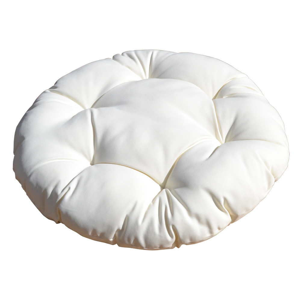 33'' Round Light Khaki Soft Replacement Cushion Pillow Pad Seat Cover for Egg Hanging Wicker Swing Chair