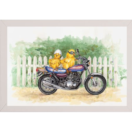 "Biker Chicks-CHAKEL78404 Print 19""x28.25"" by Charlsie Kelly in a Affordable White Medium"