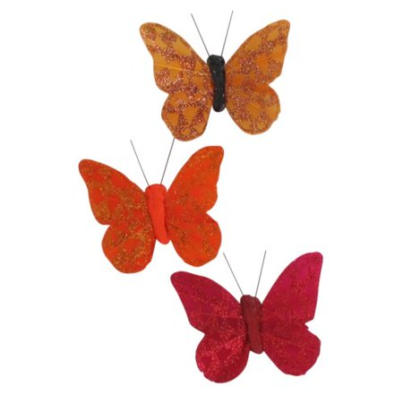 - Evideco Feather Butterfly Curtain Tieback with Magnet Arlequin (Set of 3)