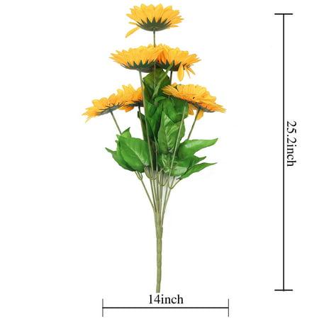 Yellow Sunflower Flowers (BalsaCircle 45 Yellow 22