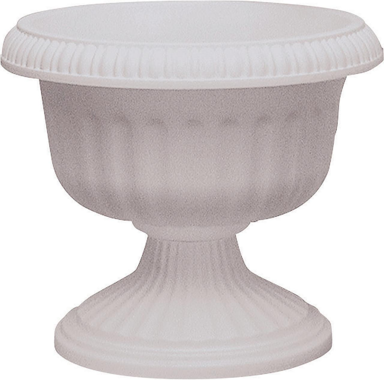 Southern Patio, Dynamic Design UR1212WH Grecian Style Urn Planter, 12 in Dia x 11.88 in L,... by AMES/TRUE TEMPER INC